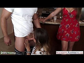 Hot lesbians dani daniels and rilynn rae sharing a big prick