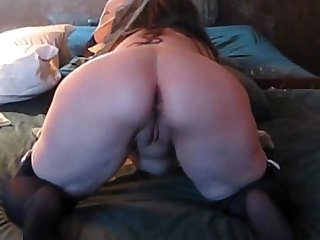 Trixxxcams com chubby wife gets anal creampie on webcam