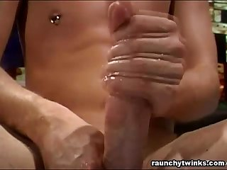 Sexy blonde Twink plays alone