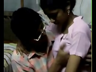 Desi young school girl boobs sucked by private tutor
