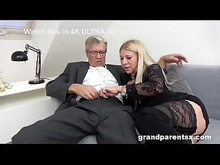 CFNM Threesome! Grandparents Teach Hot Stripper How to Fuck