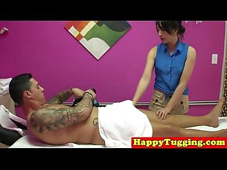 Real asian masseuse pampering customer