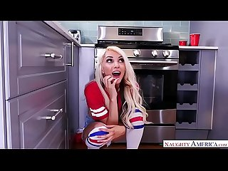 Tube socks wearing blondie takes A big one naughty america