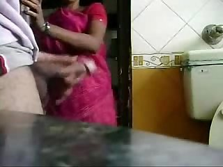 Caught jerking by my maid. She is interested