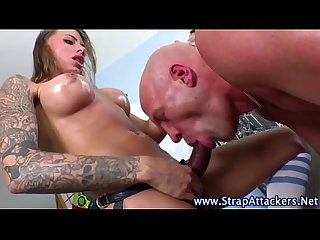 Domina babe rams losers ass