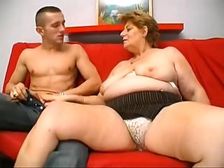 a big blonde granny from DesiresBBW .com