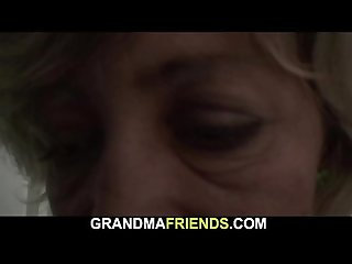 Hot old threesome with teen thiefs and mom