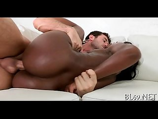 Bawdy cleft of dark honey gets nailed