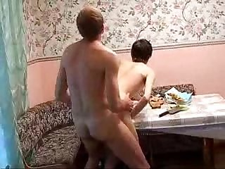 Sexy brunette alick gets fucked on the neighbor s breakfast table
