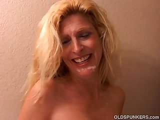 Sugar is a sweet blonde milf in high heels who loves to fuck