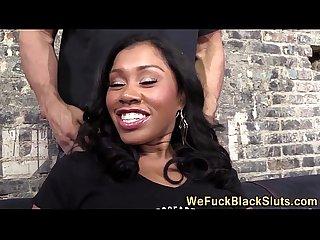 Bukkaked black banging