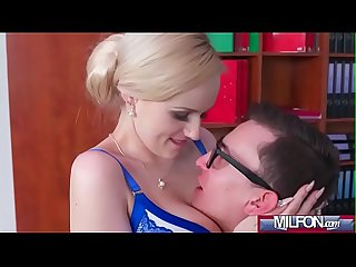 Busty Milf boss fucks big geek cock(Angel Wicky) 02 video-09