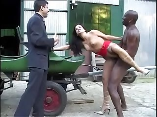 Interracial foursome and huge black cock!