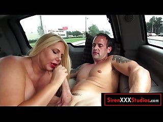 Busty Mom Fucks a Stranger In The Car