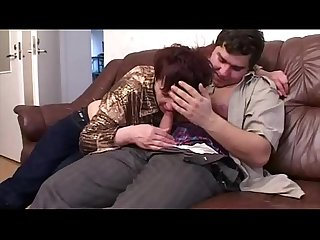 Old Mom Gets Fucked By Her Fat Son