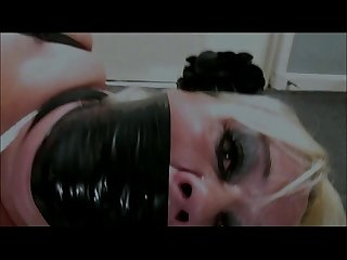 Extreme gagging and hogtied