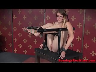 BDSM sub canned while bound by maledom