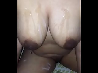 INDIAN DESI WITH SPERM ON TITS