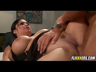 Sophia lomelli fucks hard cock in office