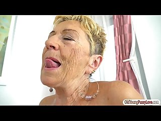 Big tits Teen aida swinger rubs her pussy on grannies tongue
