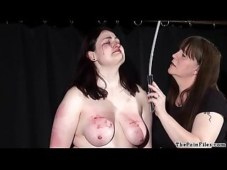 Amateur bdsm and extreme lesbian domination of chubby slave girl in hardcore