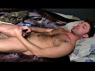 Gorgeous straight guy adam masturbating