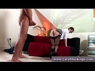 Mature classy stocking slut fucking