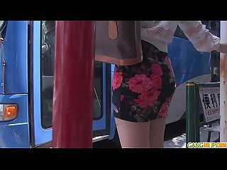 Public Japan blow job and creampie with chinatsu