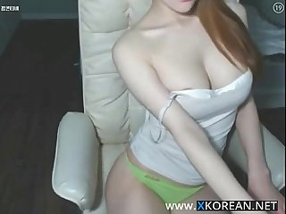 Korean busty girl shows her hot body