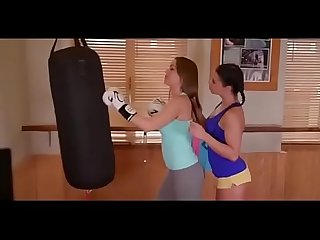 Lesbian yoga hot kiss sex