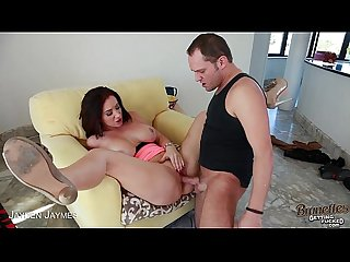 Brunette jayden james fuck a giant cock