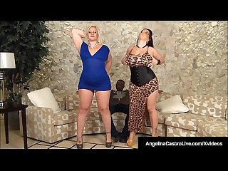 Cuban BBW Angelina Castro Does Anal 3Way With Big Black Cock