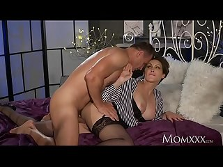 Mom office woman in stockings wants rock hard cock deep inside her