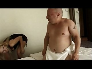 Insatiable blonde has sex with a well endowed dwarf