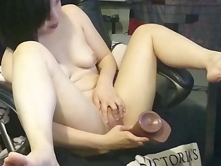 Jade chan and the bbc dildo