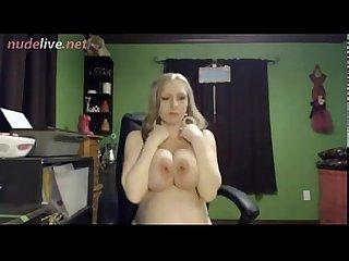 Super hot pregnan webcam chick