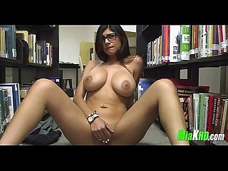 Mia khalifa plays in the library 5 94
