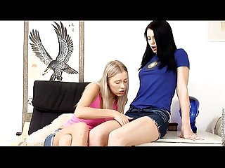 Deep Fingering by Sapphic Erotica - sensual lesbian sex scene with Dorothee and