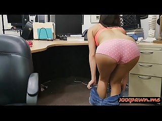 Perky tits babe gets her pussy drilled by pawn keeper