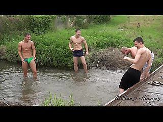 Foursome bareback fun out in the countryside williamhiggins wank party