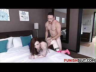 Tattooed slut Chloe Carter punished for being wasteful