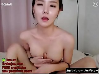 Korean BJ Neat gets wet - Live at livekojas.com