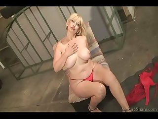 Lovely blonde milf make a blowjob and fuck her friend