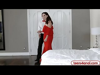 Teen virgin opens her Backdoor after a fun prom night