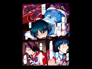 Sailor Senshi Ishu Kan Tettei Ryoujoku - Sailor Moon Extreme Erotic Manga Slideshow
