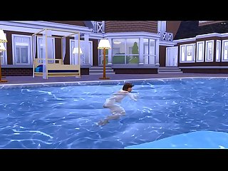 Steps. Fucks s. Korean StepMom After Swimming In The Pool | Korean StepMom And..