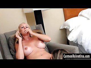 Big Tit Mature Blonde Slut Eats Carmen? Valentina Juicy Pussy