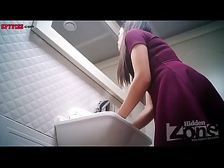 Hidden cam in Toilet women pee 2564