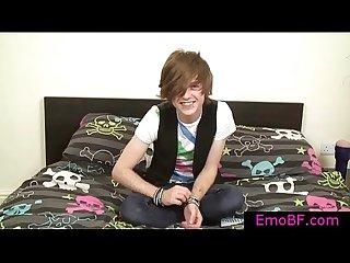 Cute teenage emo wanking his dick by emobf
