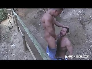 Alex Brando Martin Mazza Muscle Gay Fuck In Forrest